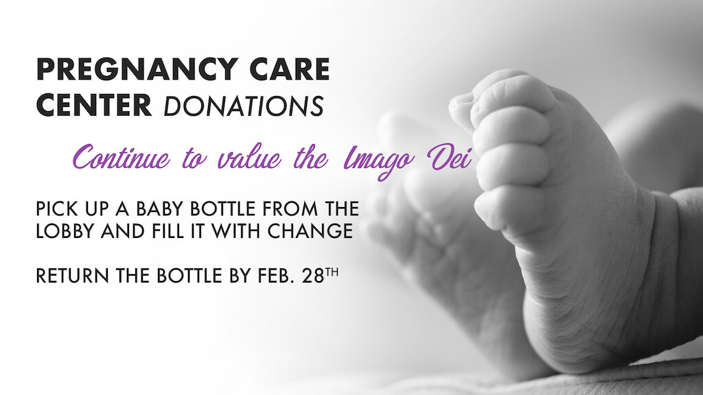Pregnancy Care Center Baby Bottle Collection 2018