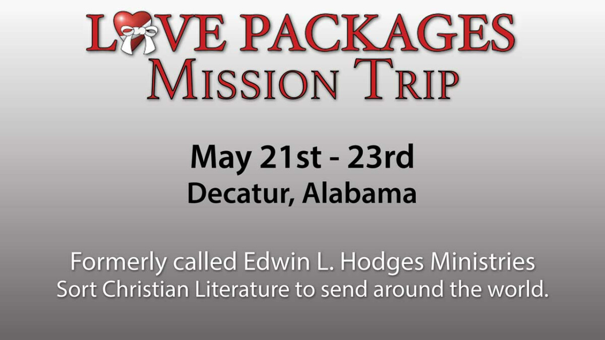 Love Packages Mission Trip