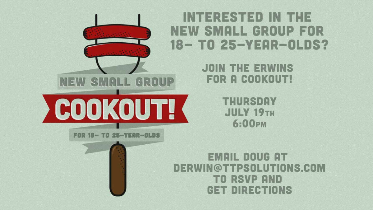 New Small Group Cookout