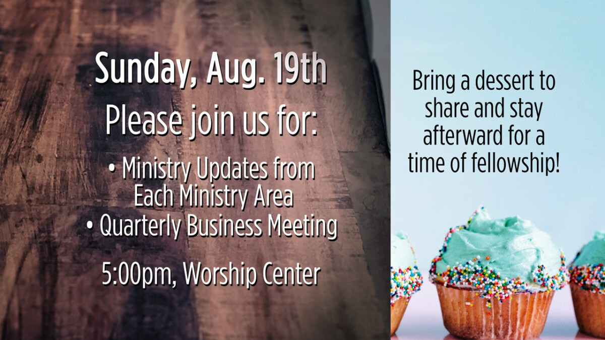 Ministry Update & Business Meeting - Fall 2018
