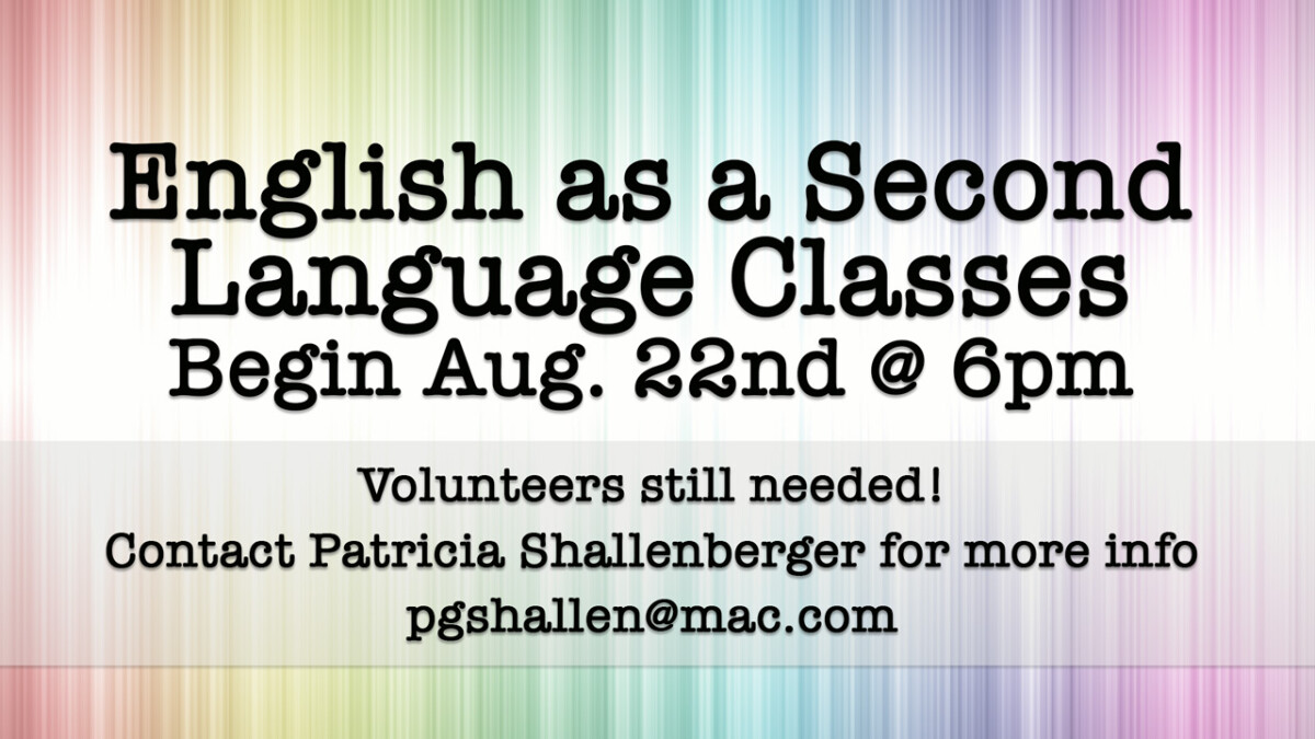 English as a Second Language Classes