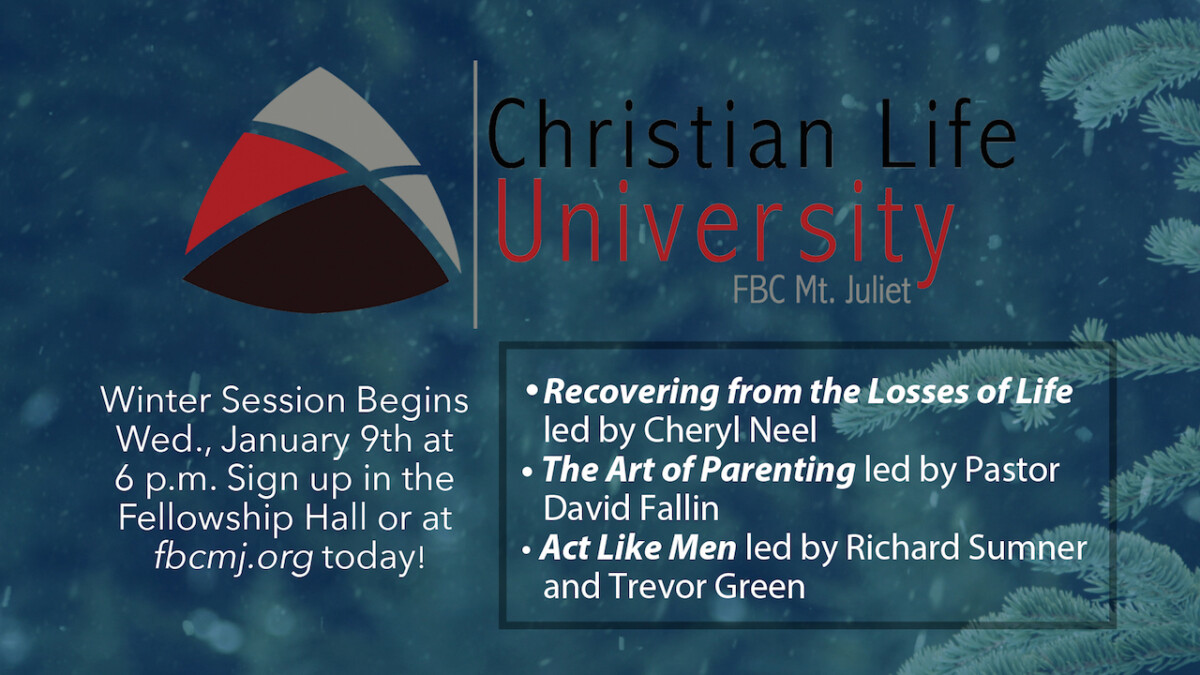 Christian Life University — Winter 2019
